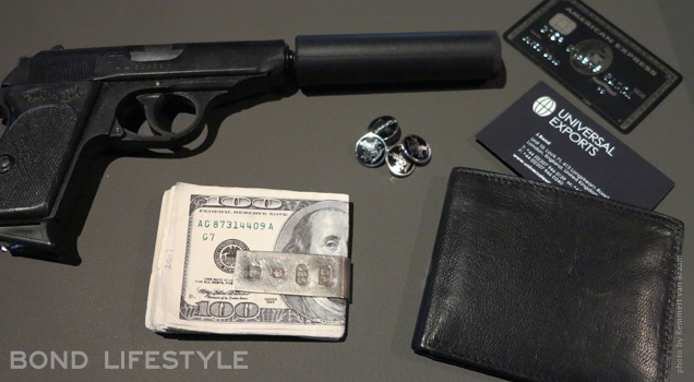 Bond In Motion props walther moneyclip tom ford cufflinks