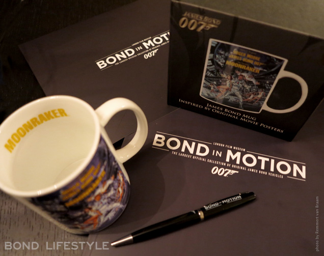 Bond In Motion shop moonraker cup pen