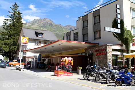 Aurora Gas Station Switzerland Goldfinger Hotel