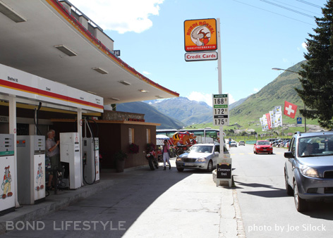 Aurora Gas Station Switzerland Goldfinger