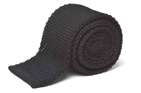 black knitted tie anthony sinclair