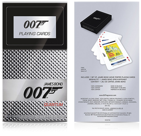 quantum 007 fragrance playing cards harrods offer