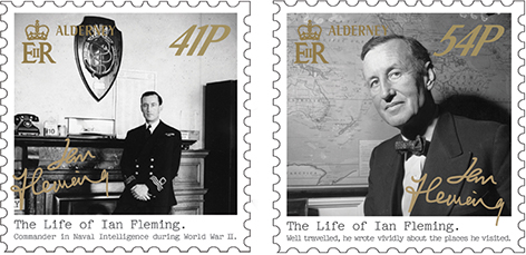 Guernsey Post stamps Ian Fleming 1