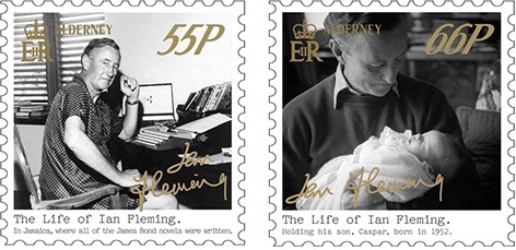 Guernsey Post stamps Ian Fleming 2 55p