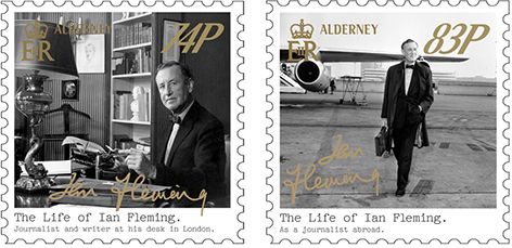 Guernsey Post stamps Ian Fleming 3 74 83