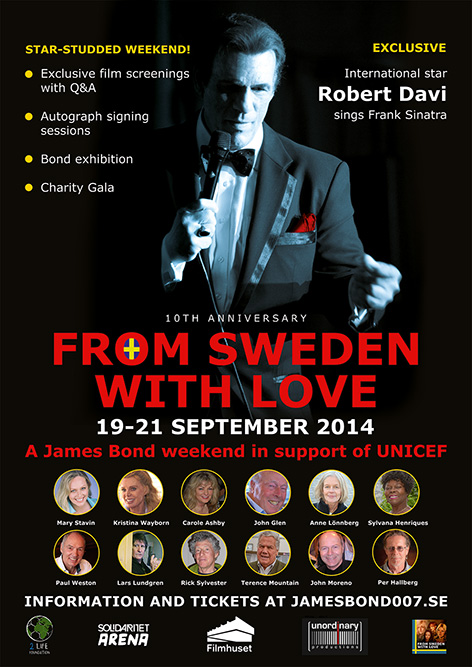 From Sweden With Love event poster