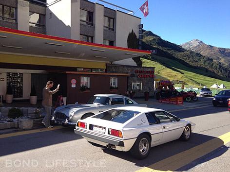 Aston Martin and Lotus Esprit at Hotel Aurora