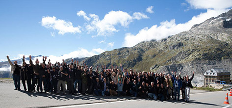 All the fans at Furka Pass