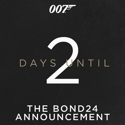 Bond 24 announcement