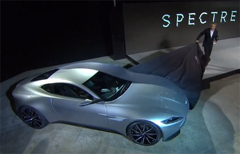 Aston Martin DB10 james bond unveiling