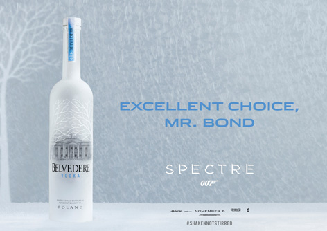 Belvedere vodka excellent choice