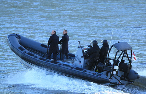 James Bond Bill Tanner Boat Thames London Spectre