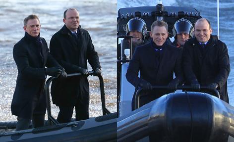 James Bond Bill Tanner Boat Thames London Spectre 2