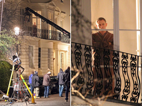 Spectre London apartment James Bond Daniel Craig