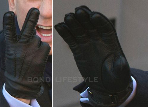 black leather gloves spectre 2