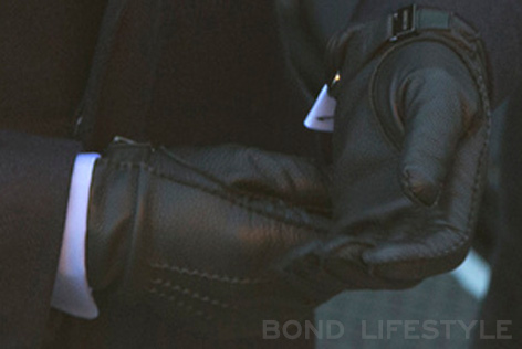 black leather gloves spectre