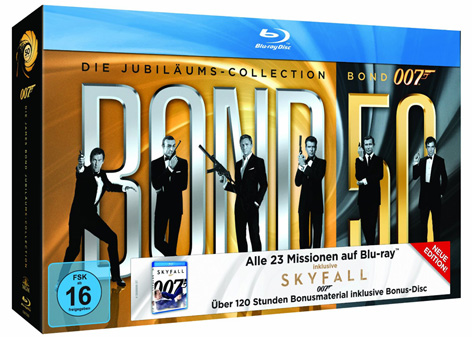 Bond 50 on Blu-Ray including SkyFall Germany