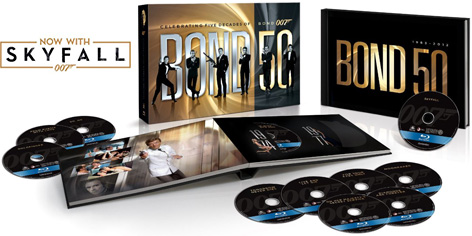 Bond 50 on Blu-Ray including SkyFall