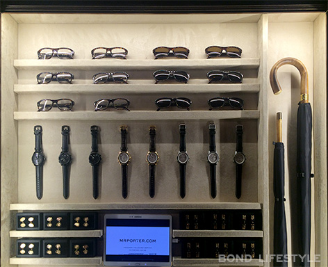 Savile Row popup store mr porter kingsman secret service accessories