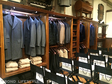 Savile Row popup store mr porter kingsman secret service rack suit jackets