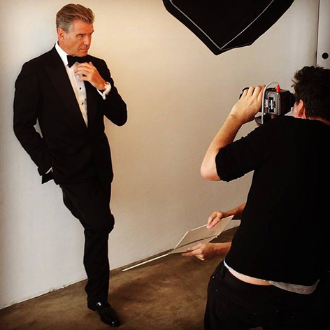 Pierce Brosnan instagram speake marin photoshoot