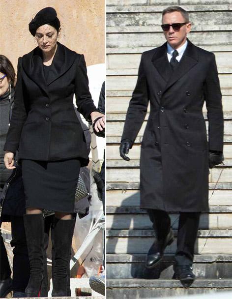 James Bond Daniel Craig Spectre Museo Rome Outfit Monica Bellucci