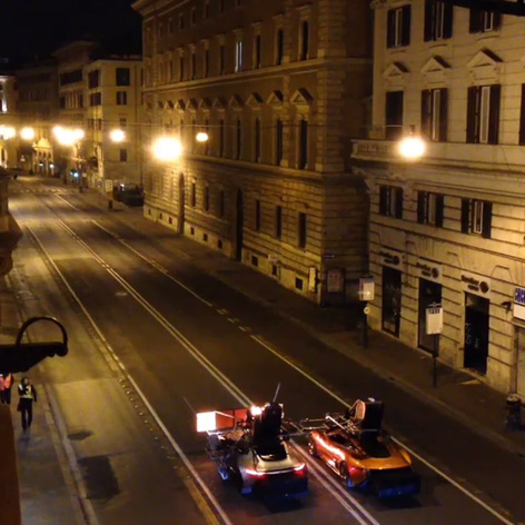 spectre car chase night rome 2