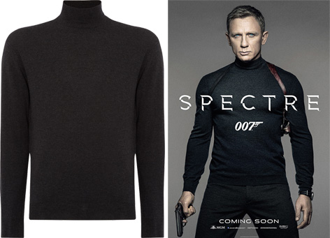 Bond wears an N.Peal sweater in SPECTRE teaser poster | Bond Lifestyle