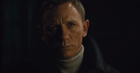 spectre teaser n peal sweater grey turtle neck cable roll