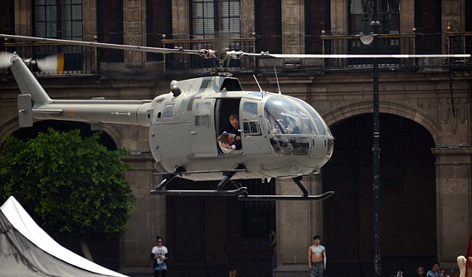 spectre mexico helicopter