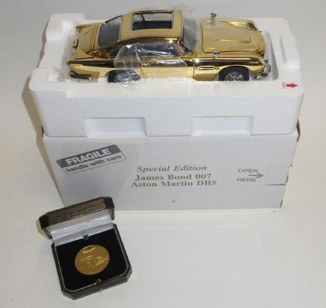 Danbury Mint gold plated aston martin db5