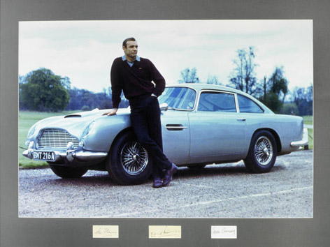 sean connery signature auction photo aston martin