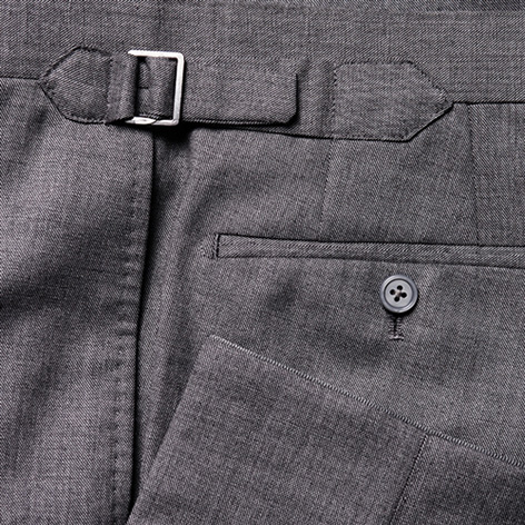 anthony sinclair conduit cut suit trousers
