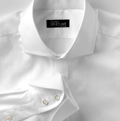 cocktail cuff white dress shirt anthony sinclair