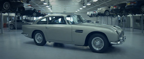 Aston Martin DB5 restoration works