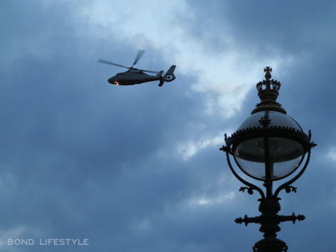 helicopter thames river spectre filming london