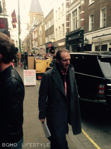 ralph fiennes spectre rules filming london