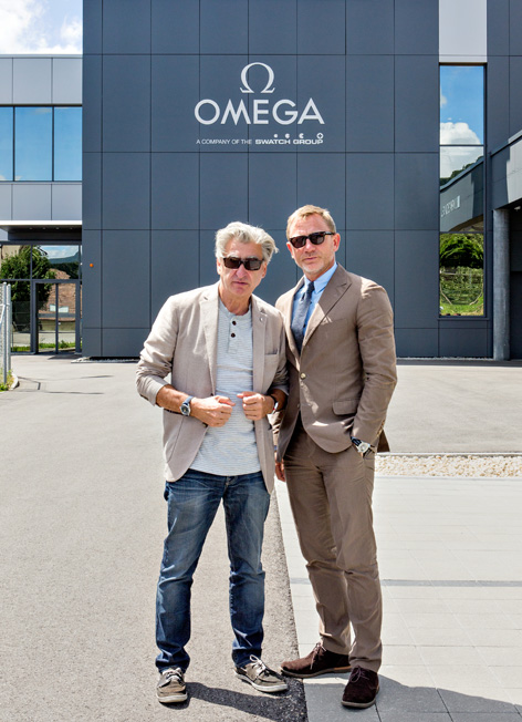 Nick Hayek Swatch Group CEO with Daniel Craig