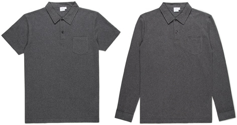 Sunspel Riviera Polo Spectral Grey limited