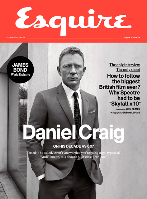 Daniel Craig Esquire UK photo by Greg Williams cover