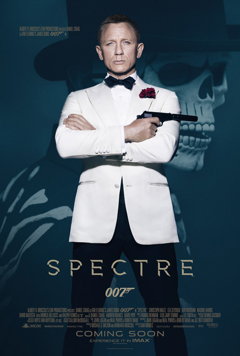 spectre poster white tuxedo dinner jacket james bond