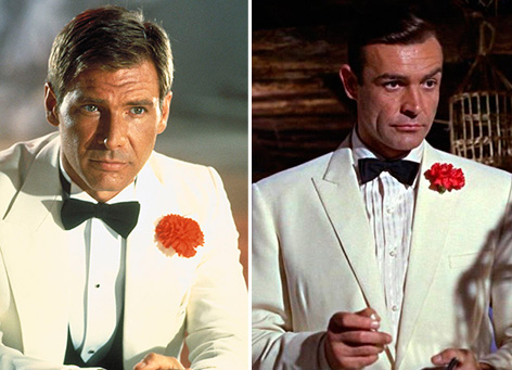 white dinner jacket indiana jones goldfinger