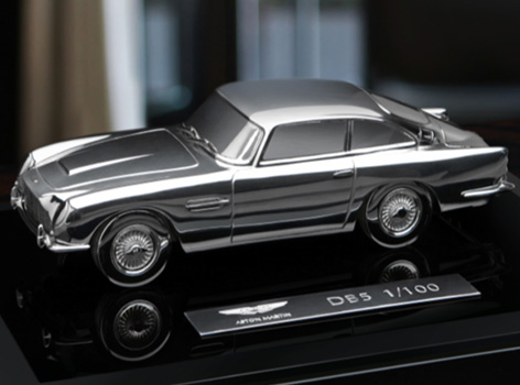 aston martin grant macdonald silver db5 model