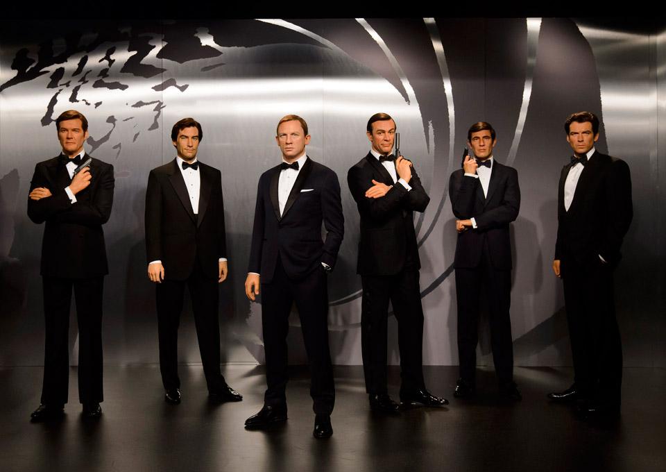 ... all six Jam... George Lazenby James Bond