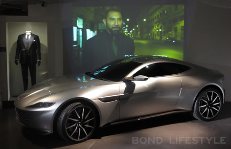 Bond in Motion Aston Martin DB10 tom ford suit