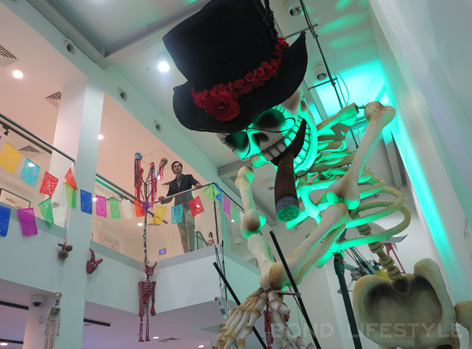 Bond in Motion Entrance Day of the Dead festivl skeleton Mexico