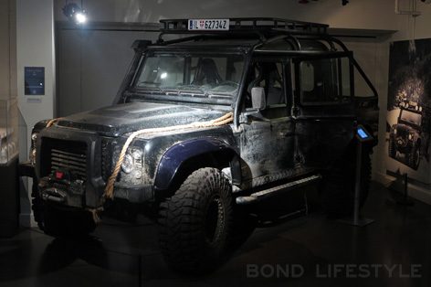 Bond in Motion Land Rover Big Foot stunt SPECTRE