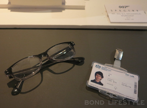 Bond in Motion Q eyeglasses badge SPECTRE