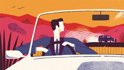 james bond mr porter illustration