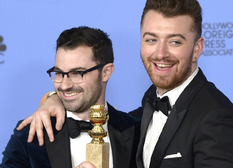 sam smith jimmy napes golden globes award 2016 spectre song